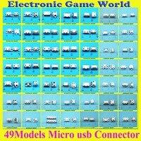 49 моделей 490 шт. всего Micro USB 5Pin Джек хвост разъем Micro USB V8 Порты и разъёмы Разъем для зарядки Samsung Lenovo Huawei ZTE HTC т. д.