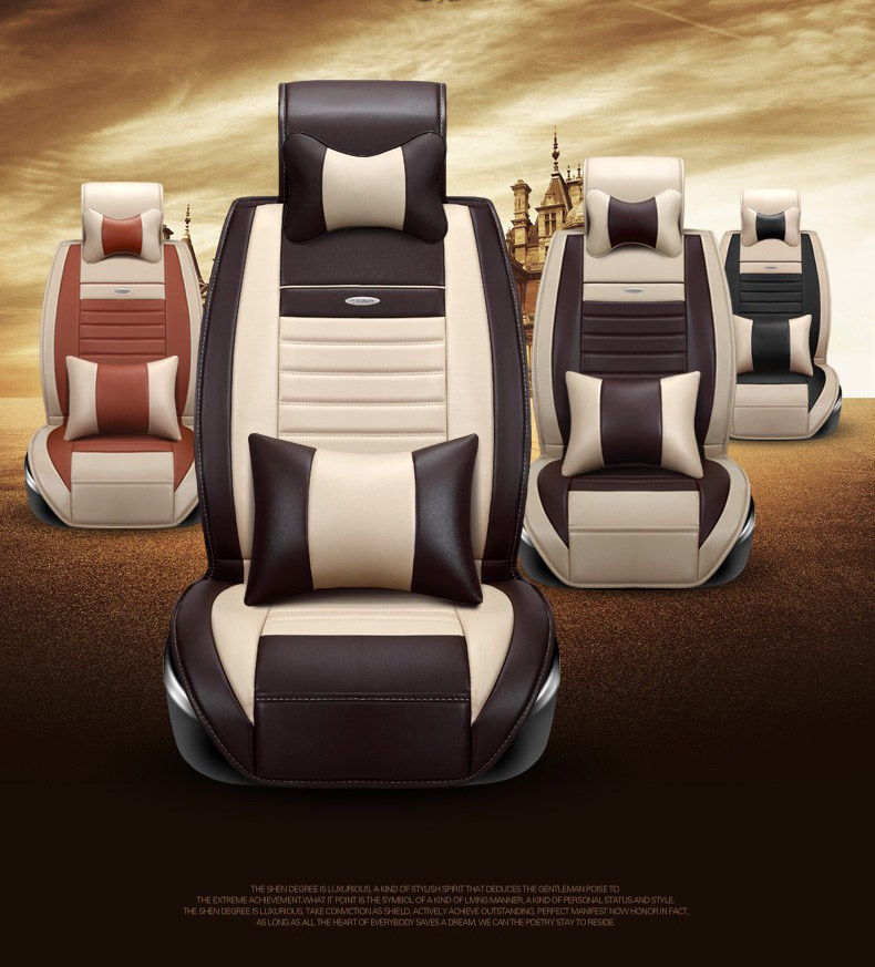 for PEUGEOT 206 207 307 308 301 406 407 3008 brand soft PU leather car seat cover front and rear full seat easy clean seat cover for peugeot 206 207 307 308 301 406 407 3008 new brand luxury soft pu leather car seat cover front