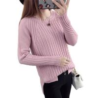 6 Colors Sweaters Women 2017 Autumn Winter O Neck Long Sleeve Loose Pullovers Knitted Sweater Female