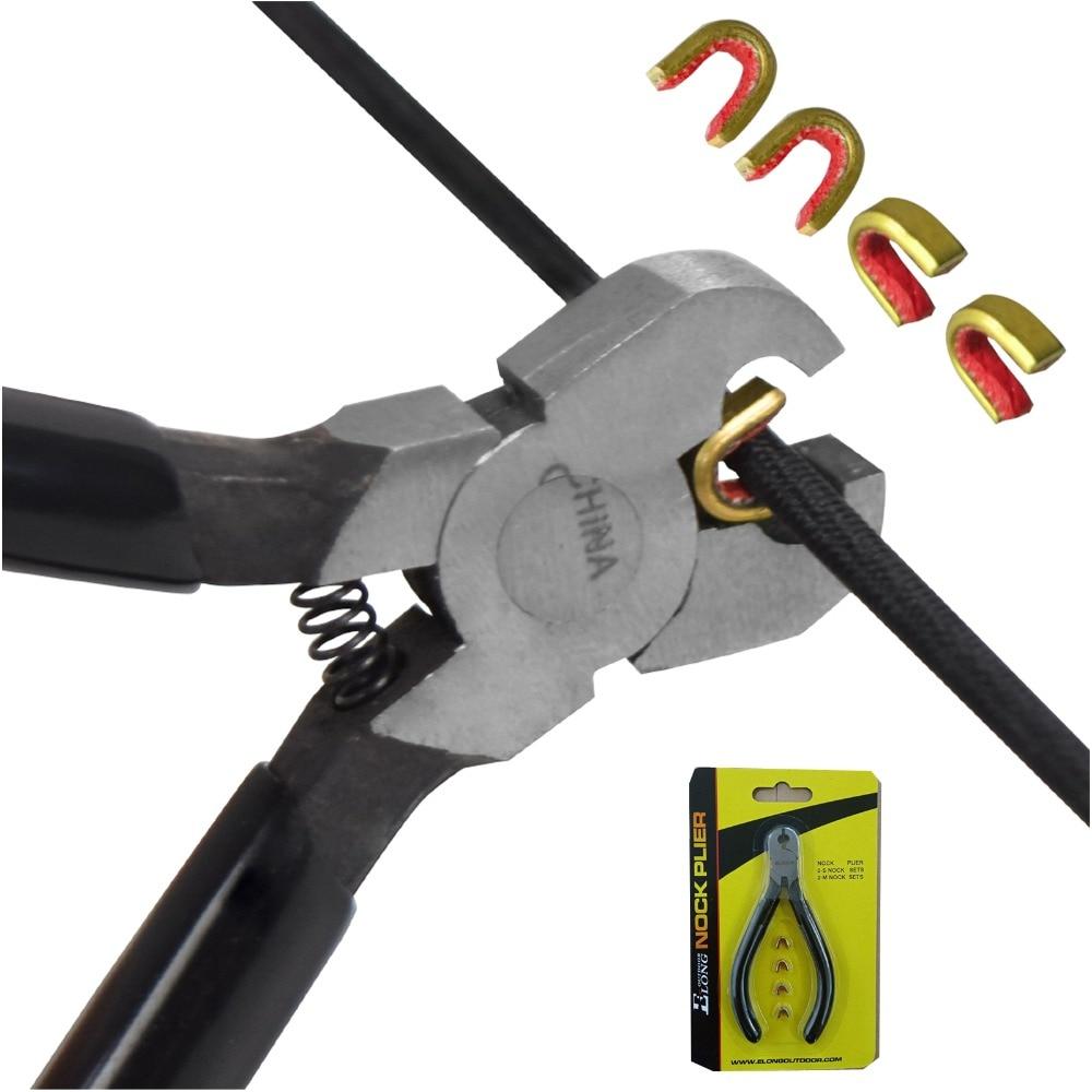 1Pc Arrow Strings Knocking Pliers Tool + 4Pcs Nocking Points Hunting Shooting Archery Bow Free Shipping