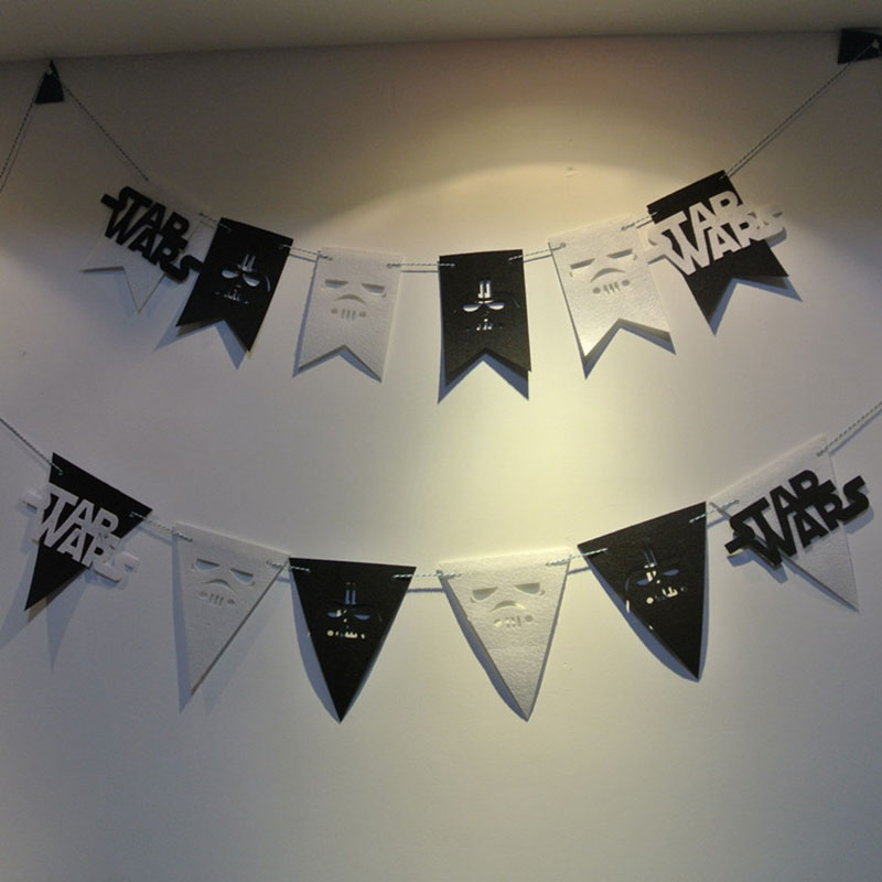 New Party Garland Star Wars Flags Bunting Banner For Home