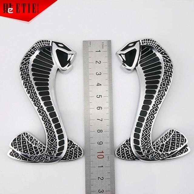 Etie 5 pairs lot 10964mm cobra snake 3d abs emblem badge sticker for