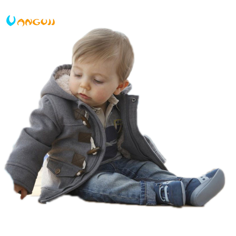 2016 New Boys Winter Jacket Clothes 2 Color Kids Outerwear Coat 95% Cotton Baby Thick Clothes Children Clothing With Hooded baby children winter kids boys girls double side wear hoodie cloak baby clothes bebe poncho cape coat outerwear