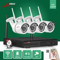 ANRAN HD 4CH 1920 1080 Wireless NVR Day Night Waterproof Surveillance 1080P WIFI IP Camera CCTV