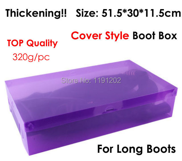 Big size boot box! size 51.5*30*11.5 cm thicken cover style ...
