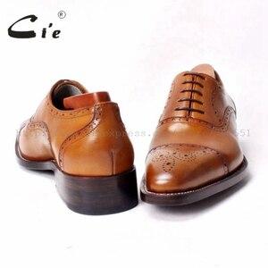 Image 4 - Мужские туфли броги ручной работы на шнурках cie, Кожаные Туфли оксфорды ручной работы коричневого цвета, OX290