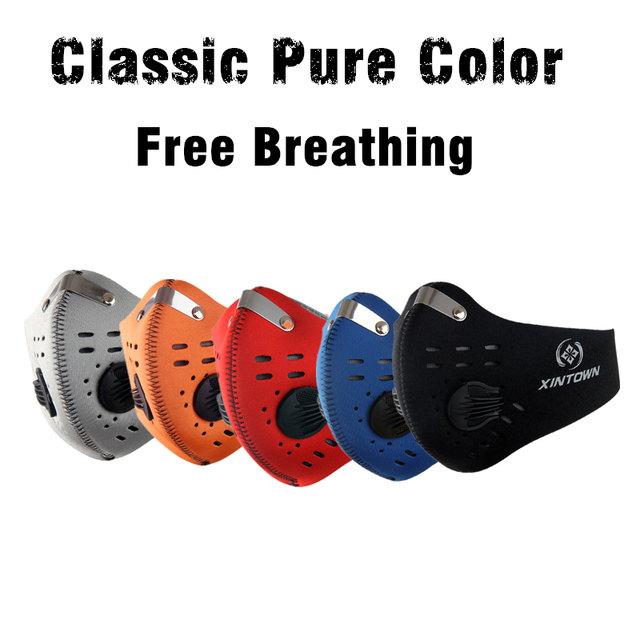 Hot Activated Carbon Dust-proof Cycling Face Mask Anti Flu H3N2 Outdoor Sport Bicycle Filter Mask Dust Smog Protective Half Face 2