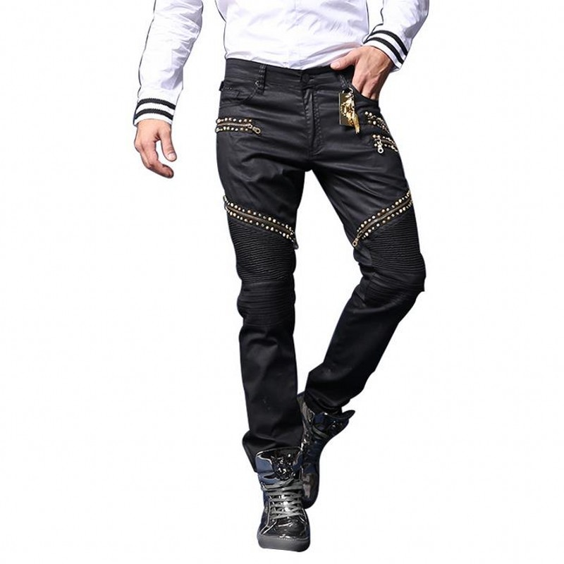 ФОТО Man's Robin Jeans Black Jeans 2017 Spring Pants High Quality Bicycle Manually Paste Crystal Golden Wings Zipper Fashion Jeans
