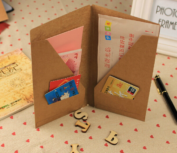 2221 cm vintage kraft paper business card holder credit cardid 2221 cm vintage kraft paper business card holder credit cardid holder portable colourmoves