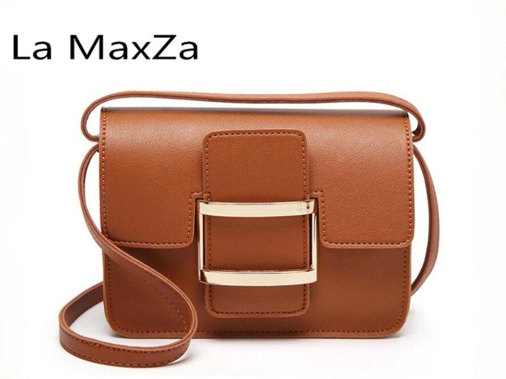 La MaxZa 2018 hot explosions female bag casual ladies shoulder bag lock buckle slung square bag fashion handbag