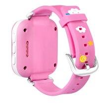 2สีจีพีเอสติดตามชมสำหรับเด็กเด็กดูสมาร์ทSOSฉุกเฉินป้องกันการสูญหายGSMโทรศัพท์A Ppสร้อยข้อมือสายรัดข้อมือปลุกAndroid