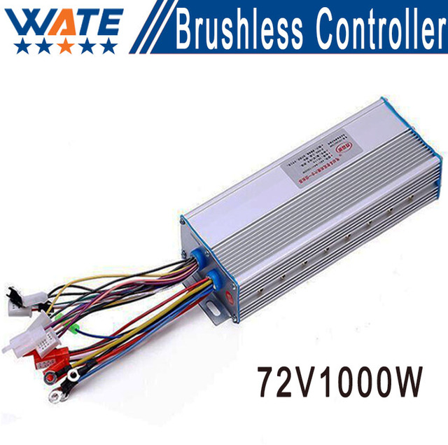 72 V 1000 W brushless DC electric car motor controller, Dual-mode intelligent DC motor controller,