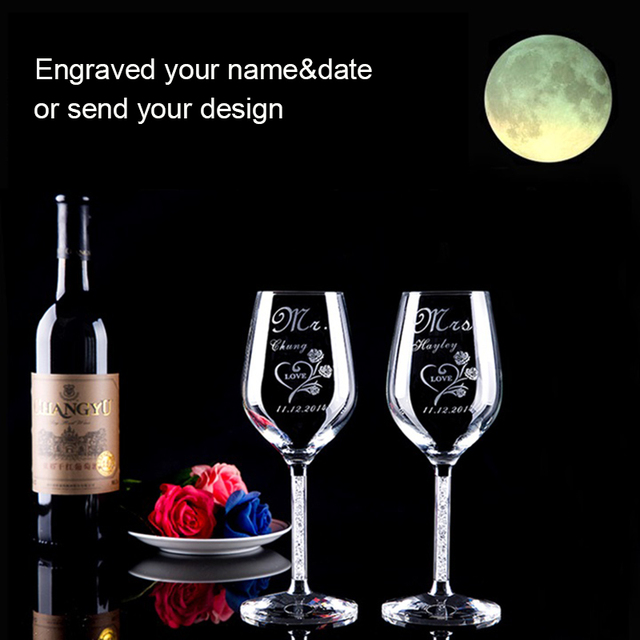 personalized toasting glasses bride and groom champagne glasses
