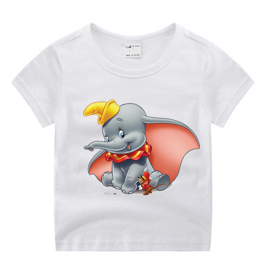 Kids Boys Cotton T Shirt Short Sleeve 3D Cartoon Elephant T Shirts Summer Kids Casual Tee Tops Clothes