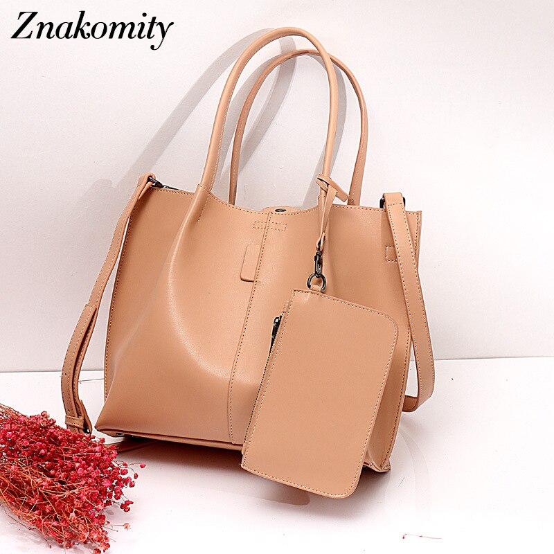 Znakomity 3 pièces/ensemble mode femmes sac à main en cuir véritable ensemble vintage femmes sac à bandoulière femme haute qualité composite sac 2019