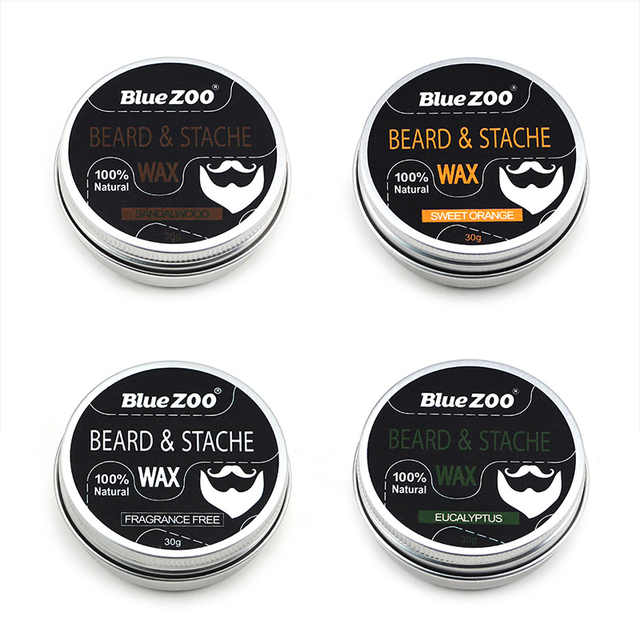4 Flavours Natural Organic Beard Balm for Dashing Gentlemen Beard Professional Tool Conditioner Beard Oil Care Random Delivery