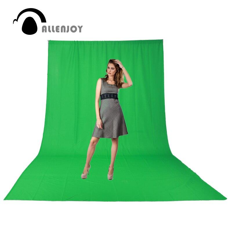 Allenjoy Hromakey mousseline chromakey fond d'écran vert toile de fond professionnel Photo studio film photographie à l'exclusion du support