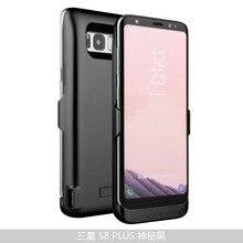 6500 мАч Обложка питания для Samsung Galaxy S8 плюс телефона Power Bank Внешнее зарядное устройство резервного копирования Чехол для S8 5500 мАч питания чехол