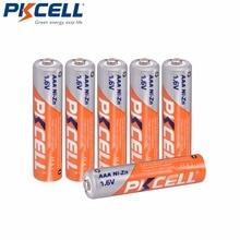 6 pces * pkcell NI ZN 1.6v aaa bateria recarregável na capacidade 900mwh 3a bateria