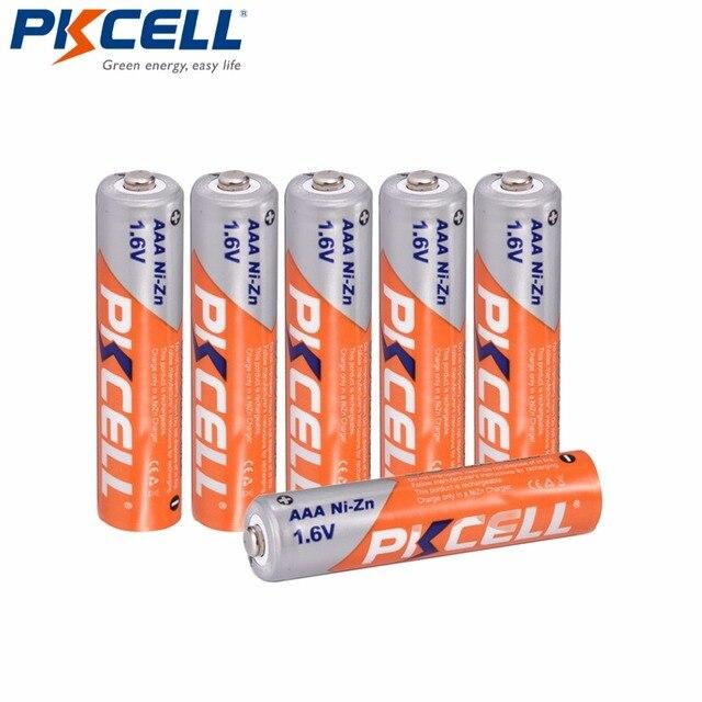 6Pcs * PKCELL NI ZN 1.6V AAAแบตเตอรี่900mwhความจุ3Aแบตเตอรี่