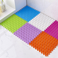 6pcs/set Creative candy color stitching feet massage DIY lovely bathroom toilet mat waterproof non-slip mats
