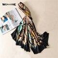 2017 моды шелк Шарф женщины популярные печати письма Шарф люксовый бренд теплый платок элегантный бандана мягкие платки пашмины мыс
