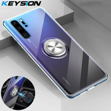 KEYSION Phone Case for Huawei P30 Pro P20 Lite Mate 20 Pro 20X Case Transparent TPU Ring Holder Back Cover for Honor V20 Nova 4(China)