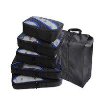 圧縮梱包キューブ旅行荷物オーガナイザー/防水/梱包キューブ 個/小/大/ダブルジップトラベルバッグハンド荷物 5