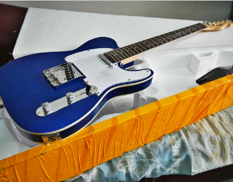 Top Quality cheaper GYTL-2039 transparent Blue  Color rosewood fretboard TL Electric Guitar, Can be Customized, Free shippingTop Quality cheaper GYTL-2039 transparent Blue  Color rosewood fretboard TL Electric Guitar, Can be Customized, Free shipping