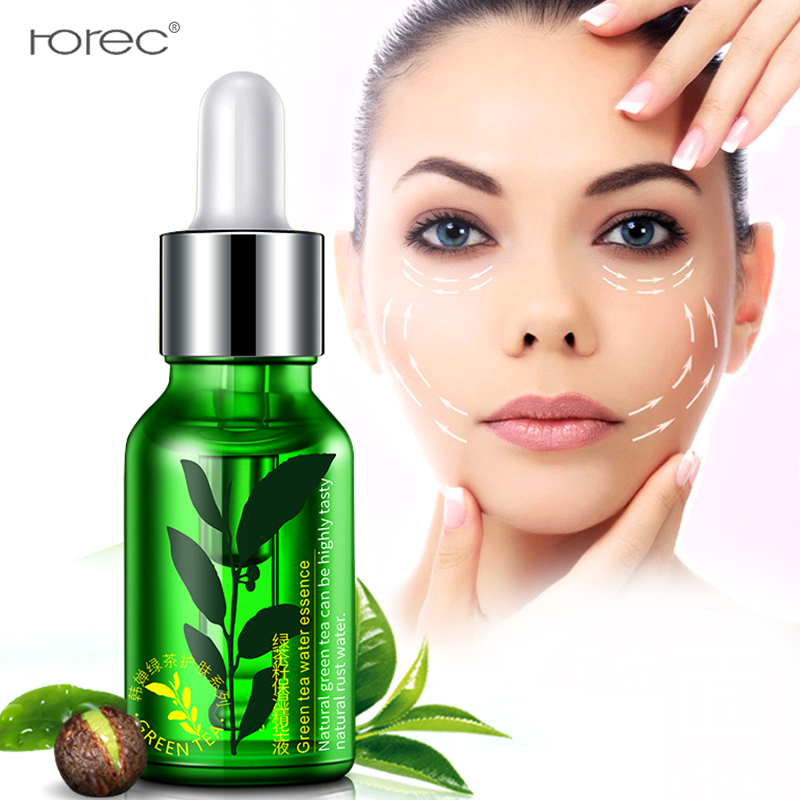 ROREC Face Serum Green Tea Seed Moisturizing Essence Anti aging Moisturizing Hydrating liquid lifiting firming delicate pore in Serum from Beauty Health