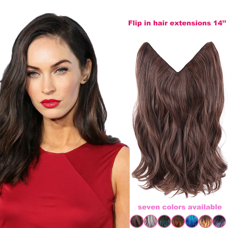 14inch dark brown hair no clip hair extension brazilian natural 14inch dark brown hair no clip hair extension brazilian natural wave invisible synthetic halo hair extension flip inwoman hair on aliexpress alibaba pmusecretfo Choice Image