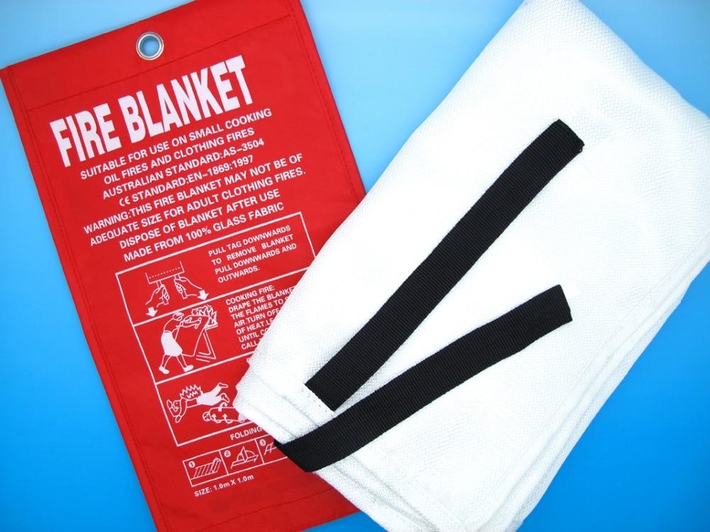 1m X 1m Fire Blanket Fiber Glass Flame Retardant Welding