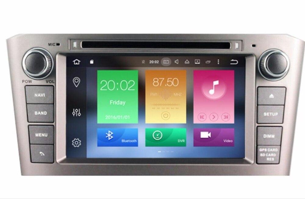 7 Android 8.0 автомобиль DVD стерео Нави GPS мультимедиа для Toyota Avensis 2005-2007 Авторадио GPS Аудиомагнитолы автомобильные Системы новые бесплатные Геог...