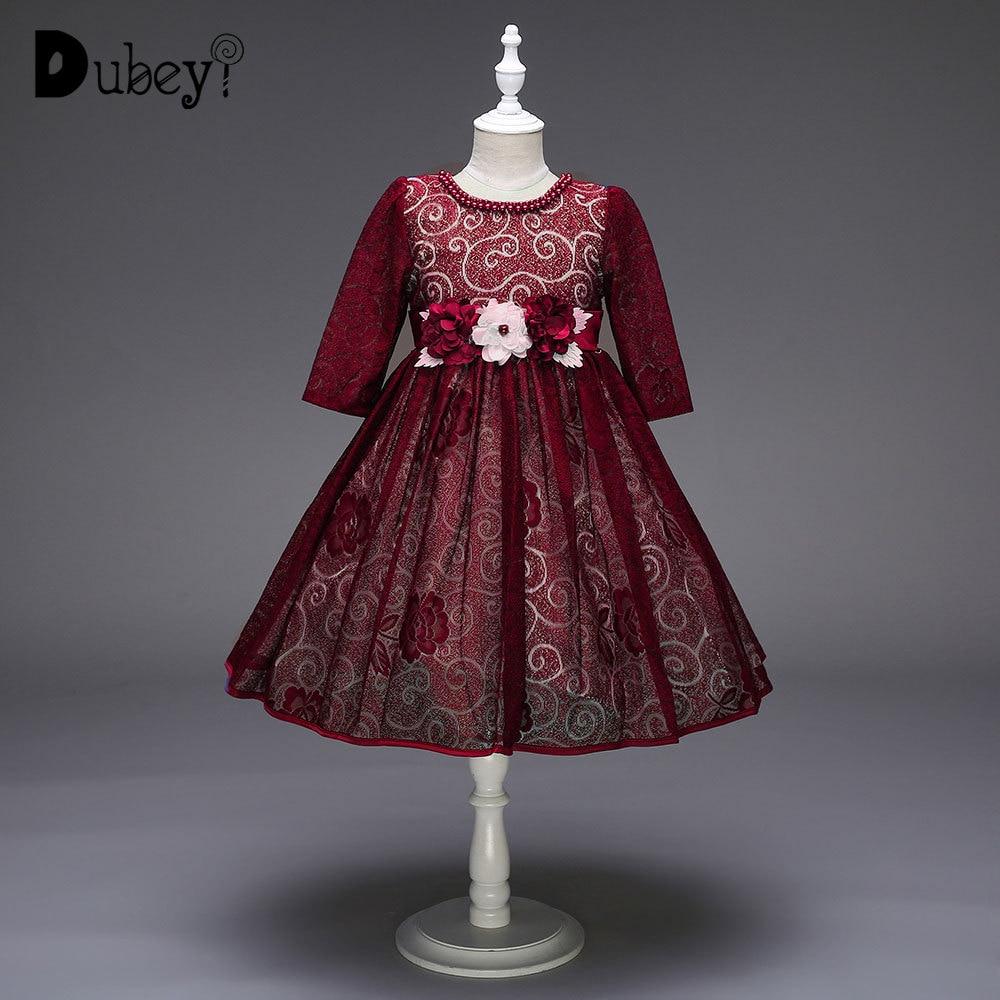 Fleur fille Boutique dentelle robe de mariée bébé fille élégante demi manches dentelle princesse Costume pour soirée bal de promo
