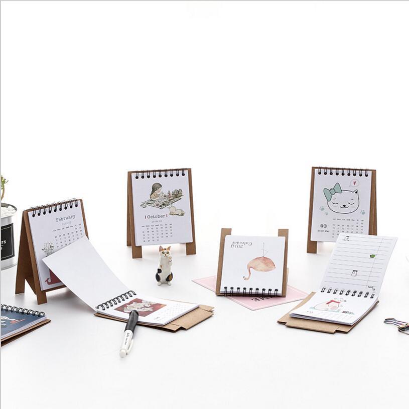 Calendar Lovely New 2019 Calendar Cartoon Characters Desktop Paper Calendar Dual Daily Scheduler Table Planner Yearly Agenda Organizer