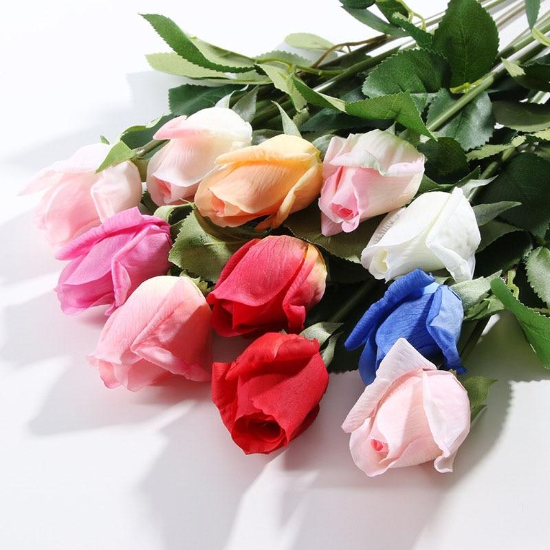 54CM Artificial Flowers Rose Simulation Fake Plants Bridal Shower Valentines Day Bouquet Home Wedding Decoration Flower 2019