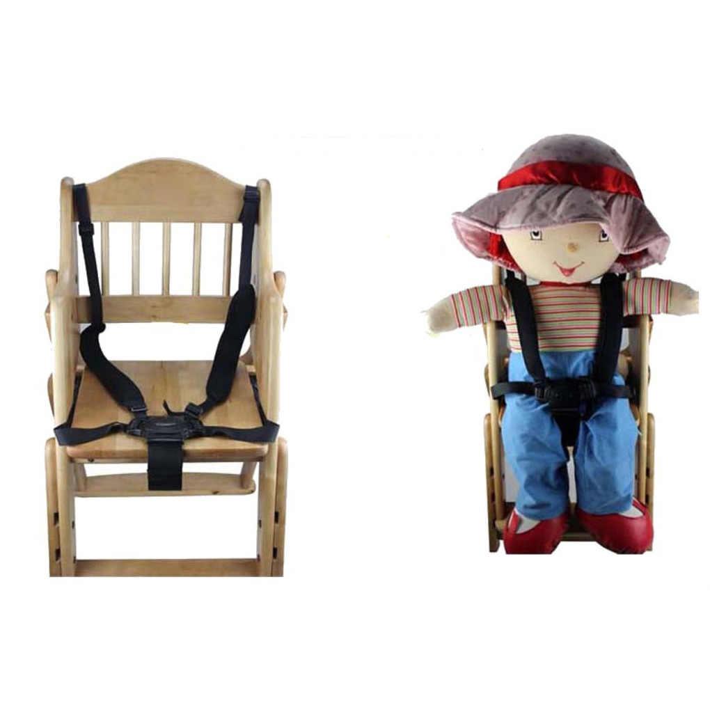 รถเข็นเด็กทารกความปลอดภัยเข็มขัดปรับเก้าอี้เด็กความปลอดภัยสายรัดเด็กเก้าอี้รับประทานอาหาร 5 จุดเด็ก Pram ที่นั่งเข็มขัด