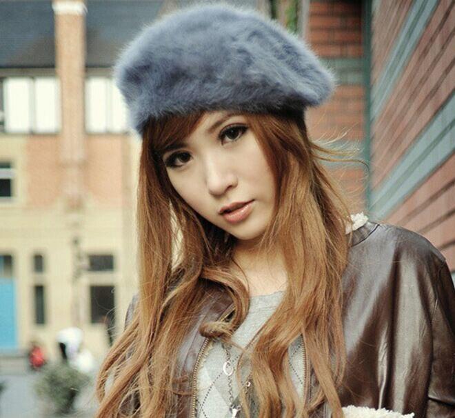 2017 Hot fashion Autumn Spring warm hat Women fashionable rabbit painter Han Lei Princess pure beret cap For Lady multi color women artist beret cap french style autumn