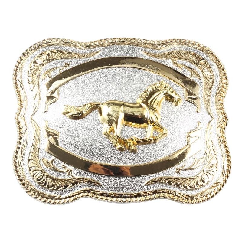 Western Style Horses Belt Buckle Decorative Large Belt Accessory Belt Buckle For 3.8 CM Width