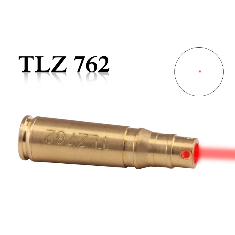 High Quality Brass TLZ 762 Caliber Cartridge Laser Bore Sighter Brass Red Laser Boresighter Free Shipping