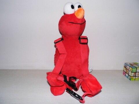 Приятель для того, чтобы держать 2-в-1 Детские накладной Рюкзак Детские поводья для От 1 до 3 лет вокруг - Цвет: Red Elmo