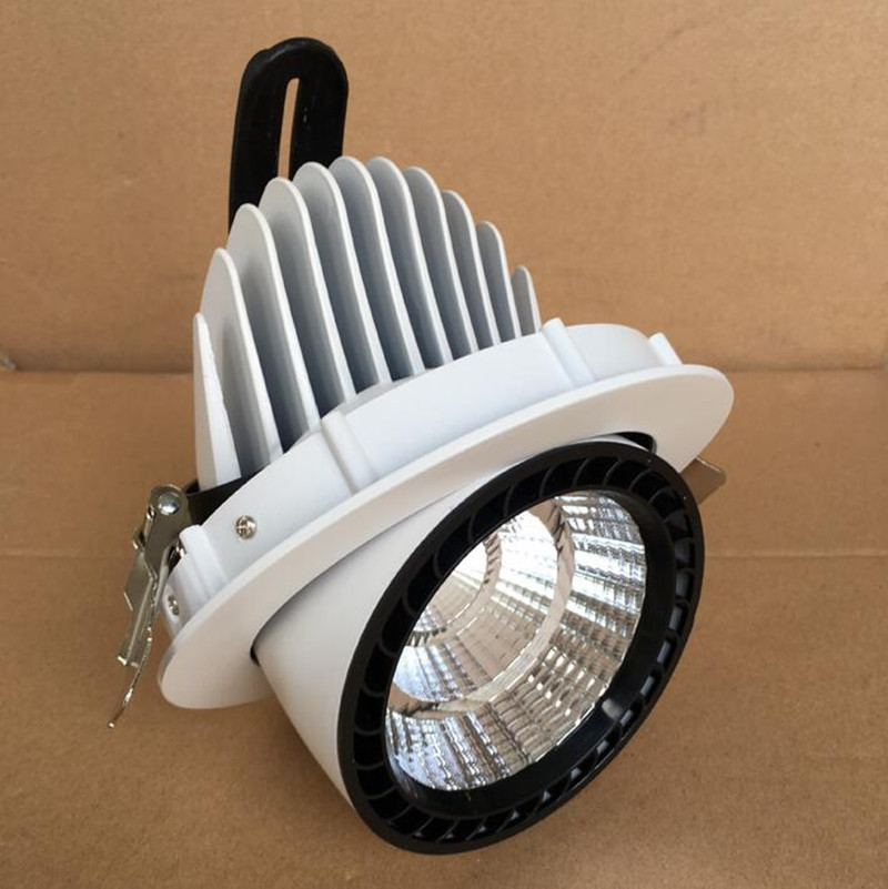 30 w Réglable COB LED Downlight Rotatif LED tronc lumière cardan gimble direction Réglable LED spot ampoule LED Plafond Lampe