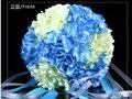 2017 de La Novia que sostiene las flores Nueva llegada de Boda Romántico de La Novia Colorida's Bouquet, rojo rosa azul y púrpura ramos de novia