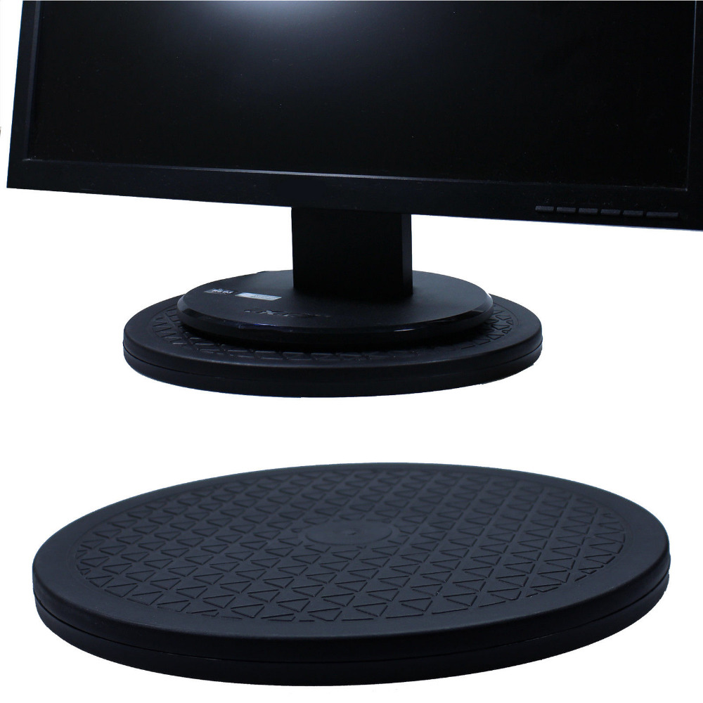 12 Inch 30CM 360 Degree Rotating Swivel Steel Ball Bearings Stand Tv Flat Screen Turntable for Monitor/TV/Computer Black Color ems free shipping 3d photo shop display rotating turntable 360 degree mannequin photography stand