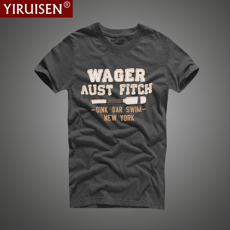 YiRuiSen T-shirt 100% Cotton T Shirt Men Clothing Tshirt