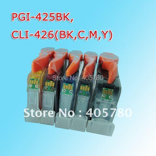 PGI-425/CLI-426(big black, small black, cyan, magenta, yellow)  INK cartridge for CANON 8140/IP4840/MX884/IX6540 freeshipping pgi 425 cli 425 refillable ink cartridges for canon pgi425 pixma ip4840 mg5140 ip4940 ix6540 mg5240 mg5340 mx714 mx884 mx894
