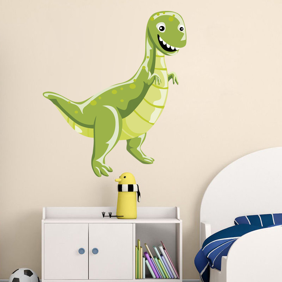 Large 3D View Dinosaur Wall Stickers Art Decal Kid Mural Living Room DIY Decor