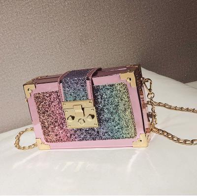 Gradient Color Sequins Box...