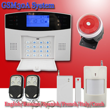 Русский/Французский/Испанский Голосовые Подсказки GSM SIM Главная Охранная Система безопасности Комплект Пульт Дистанционного Управления Инфракрасный Детектор Двери датчик