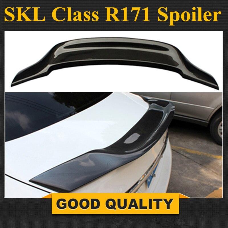 SLK Class R171 Model Carbon Fiber Gloss Black Renntech Style Rear Trunk Spoiler for Mercedes R171 Car Styling 2006 - 2011 seicane android 8 0 8inch 2 din gps car radio for 2000 2011 mercedes slk class r171 slk200 slk280 slk300 slk350 slk55